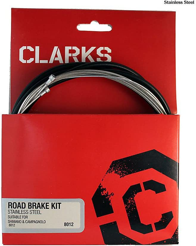Clarks Black Gear /& Brake Stainless Steel Cable for MTB /& Road Bikes