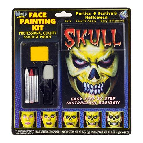 Halloween Skull Undead Zombie Makeup Kit (Skull Makeup Kit)