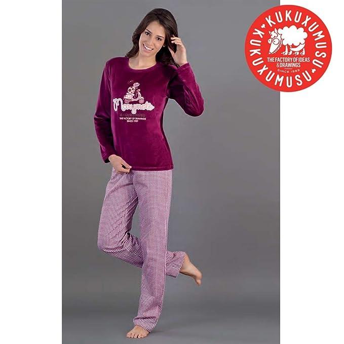 Kukuxumusu - Pijama Mujer Mujer Color: Burdeos Talla: 44