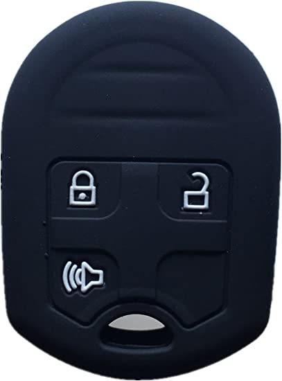 Black Keyless2Go New Silicone Cover Protective Case for Remote Head Keys with FCC CWTWB1U793