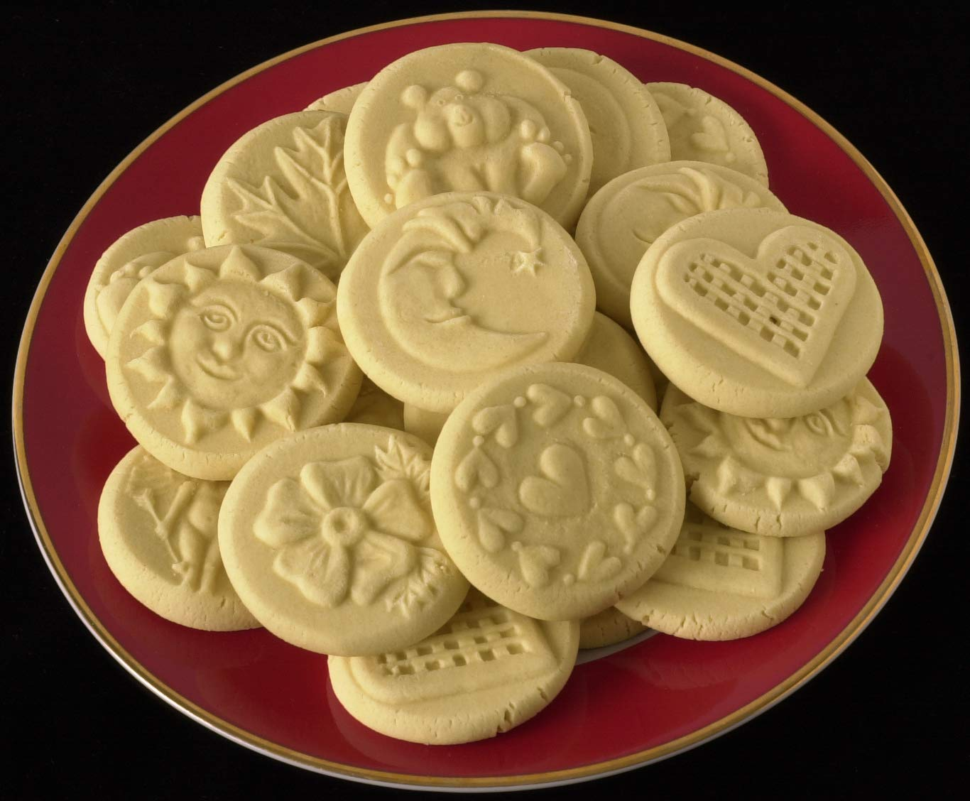 JBK Pottery Terra Cotta Cookie Stamps (3 Piece Love Set)