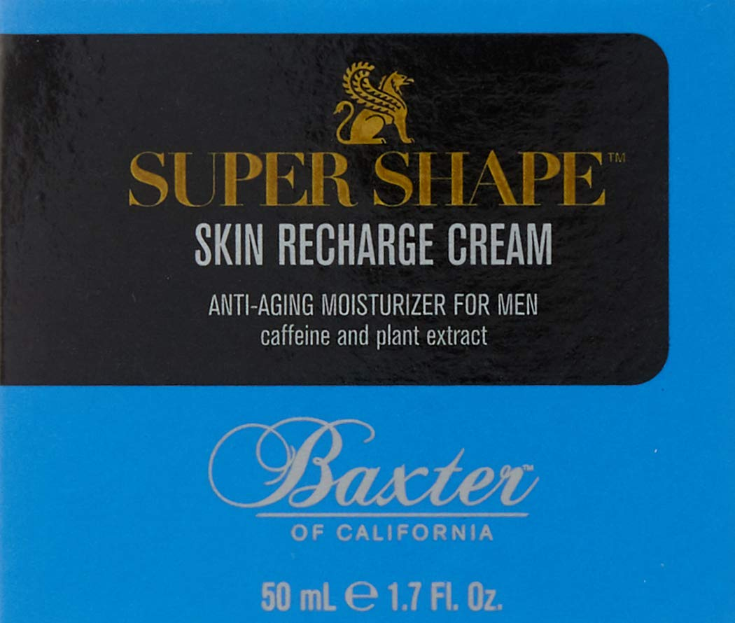 Baxter of California Super Shape Skin Recharge Cream for Men   Anti-Aging Moisturizer   Smoothes Fine Lines  Unscented   1.7 oz