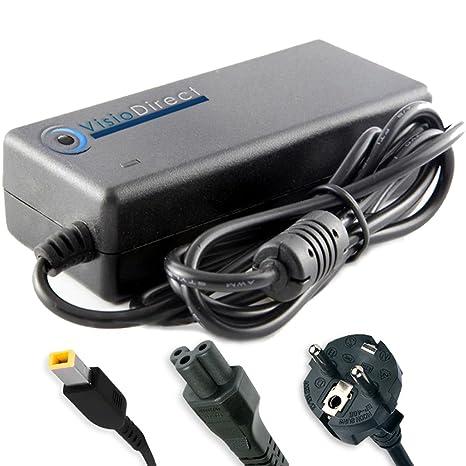 Visiodirect &apos Cargador para portátil LENOVO Lenovo ThinkPad T540p 20be0060md Fuente Cable de carga 90 W