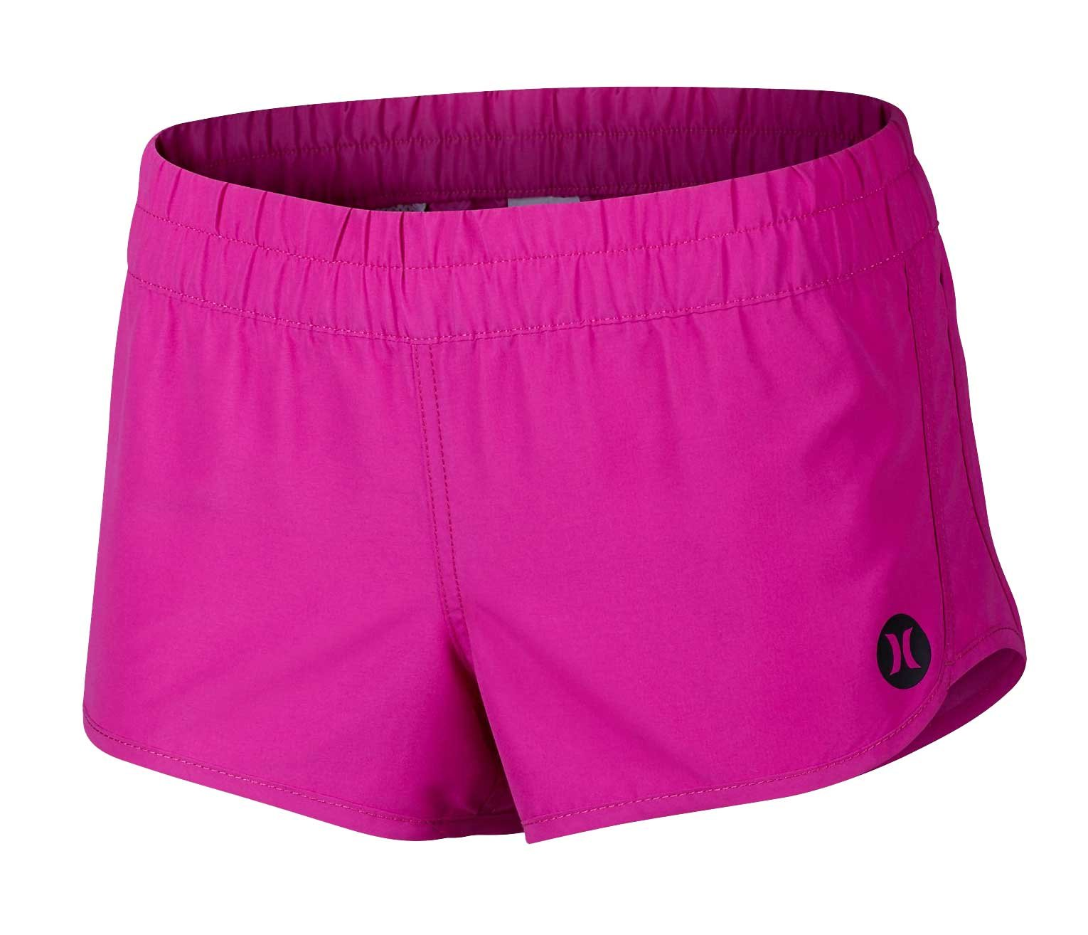 Hurley Supersuede Solid Beachrider Women's Boardshorts - Fire Pink - XL