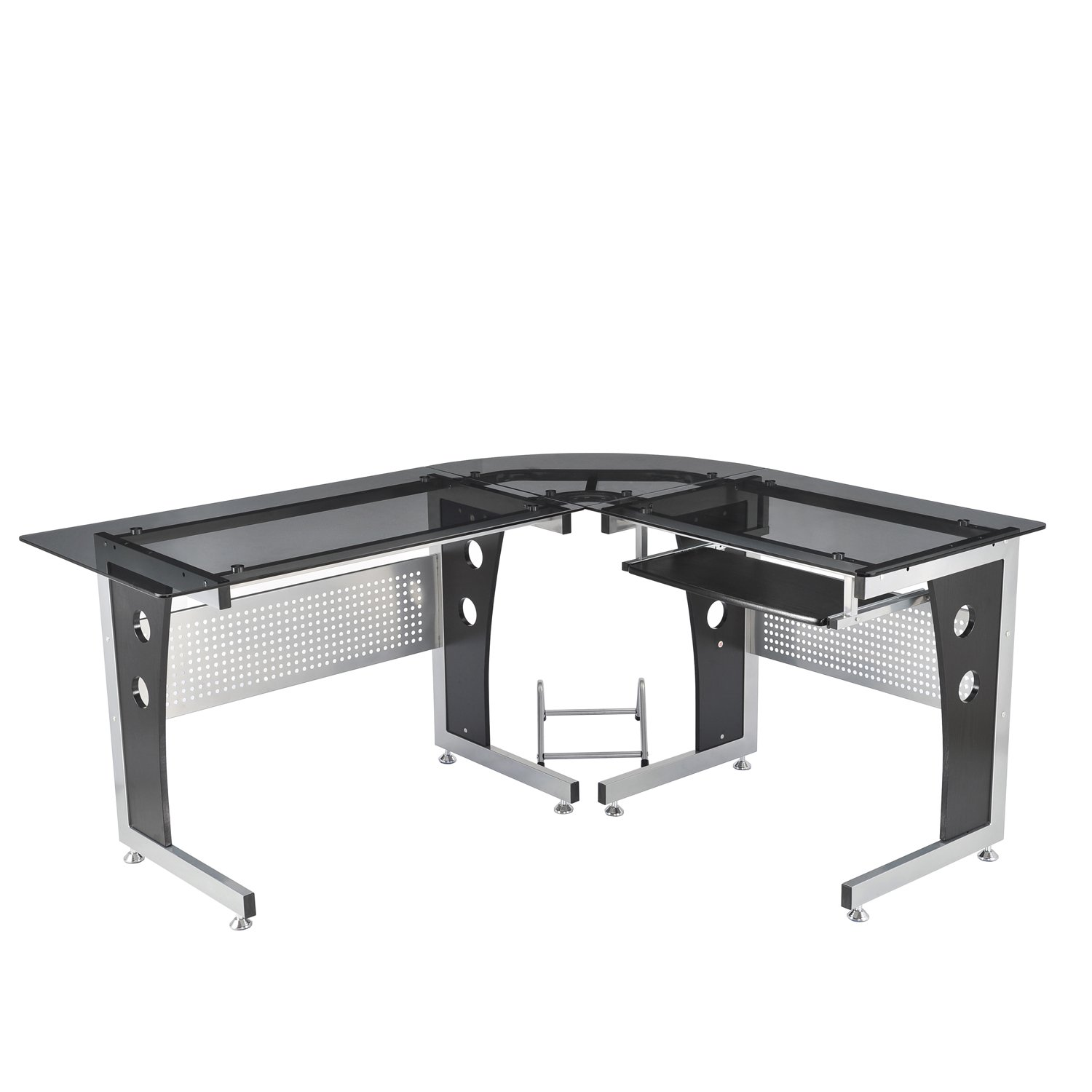 office table glass. amazoncom homcom 64 office table glass