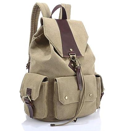 d1c52ded92 Amazon.com  JJSSGJBB Student backpack Backpack Women Luxury Canvas Bag  Travel Backpacks Zipper Solid Men s Bags Brand School Bags for Teenagers   Sports   ...