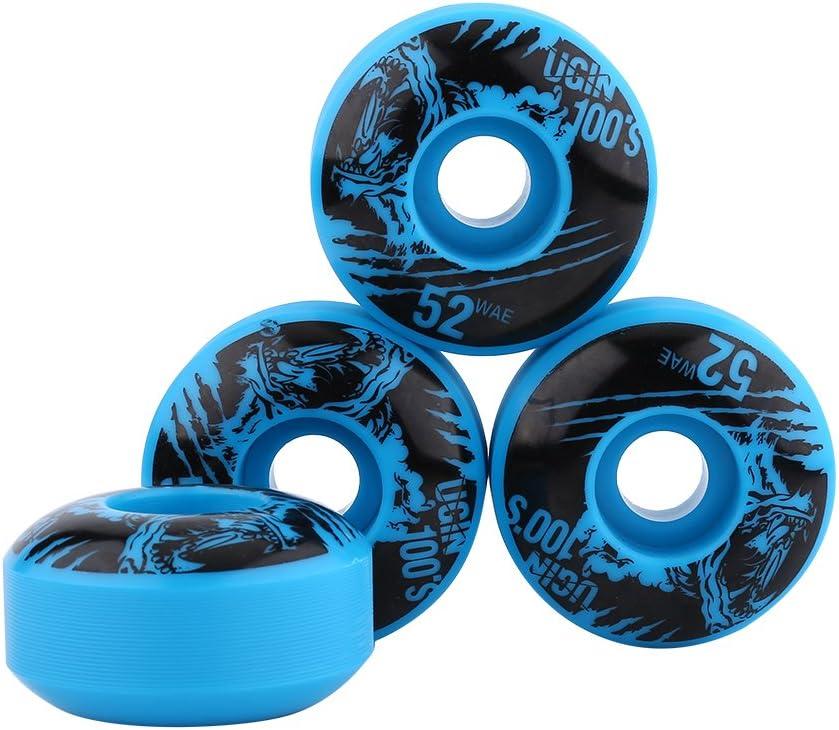 4 Pcs Solid Color Skateboard Wheels Set 95A 52*31mm Longboard Replacement Wheels