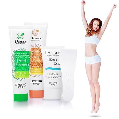 Depilacion Crema Depilatorias limpieza del cabello Emulsión de esencia depilar para cuerpo(#2)