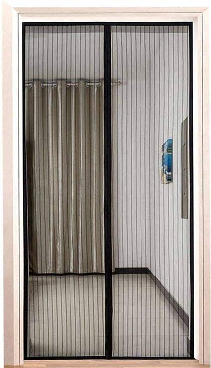 magnetische Adsorption Insektenschutz Magnet Fliegenvorhang Flei Magnet Fliegengitter T/ür 200x220cm Schwarz Luft kann frei str/ömen Auto Schlie/ßen for T/üren//Patio
