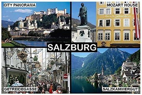 Mozart Austria Kühlschrankmagnet. Salzburg Souvenir