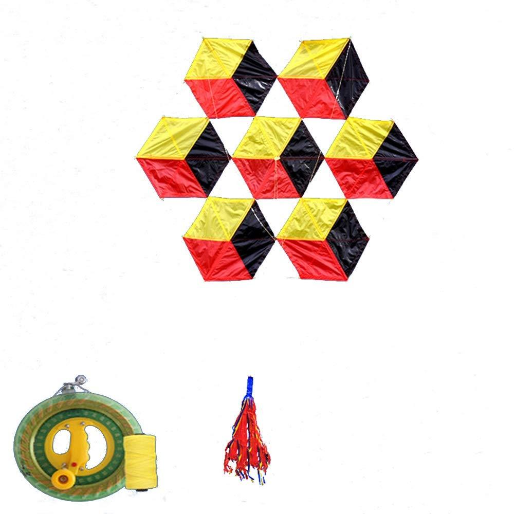 凧,アウトドア玩具 柔らかい傘布6面ルービックキューブ大きな大人の凧、飛ぶのは簡単風(リール付き) スポーツ健康の楽しみ B07QYQGBSX (色 (色 : D) B07QYQGBSX D) E E, ジュエリー&レザーRugged Market:9ec3f782 --- ferraridentalclinic.com.lb