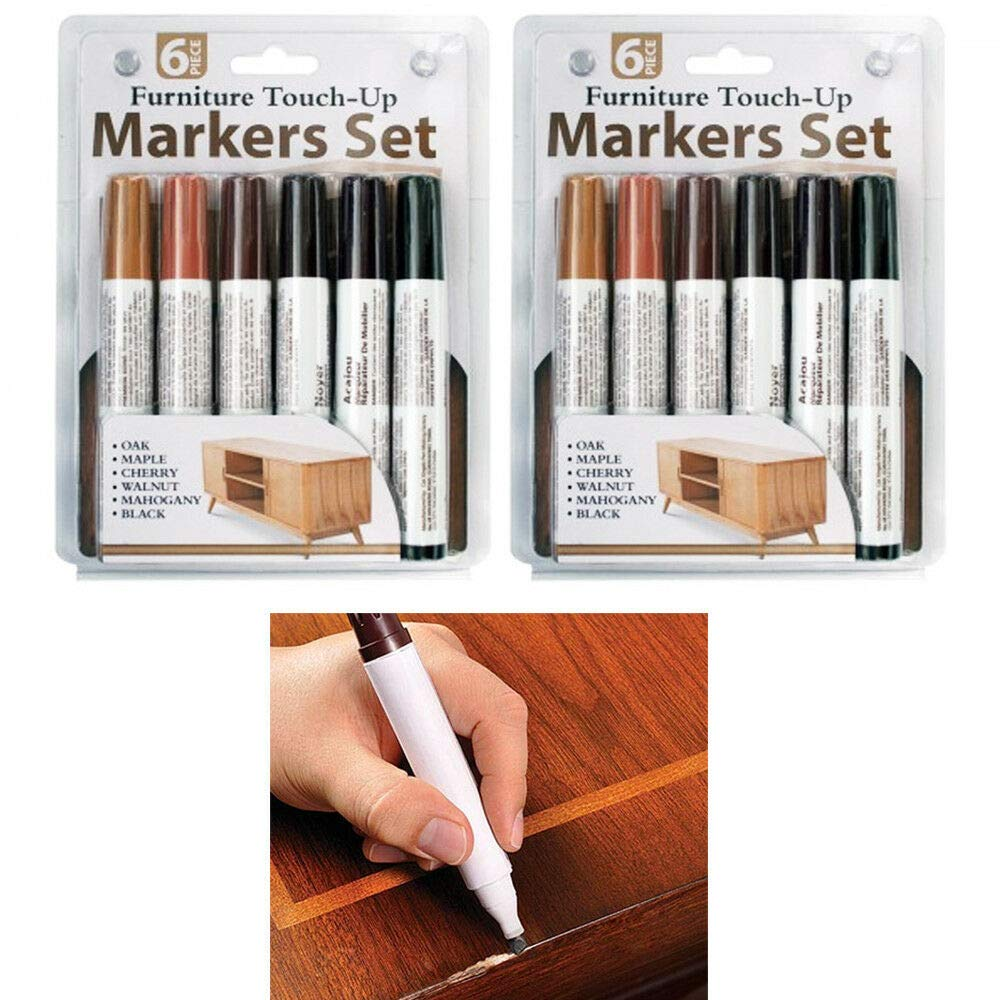 12 Pc Furniture Touch Up Marker Pen Wood Wax Scratch Repair Filler Remover Fix by Cocoso Shop