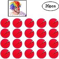 Amasawa 20 Piezas Espuma Clown Nose,Nariz de Payaso