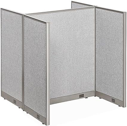 GOF centro de llamadas del cubículo, doble 2 estaciones 30d X 48 W/oficina partición (5 x 4), color gris 30D x 48W x 60H: Amazon.es: Oficina y papelería