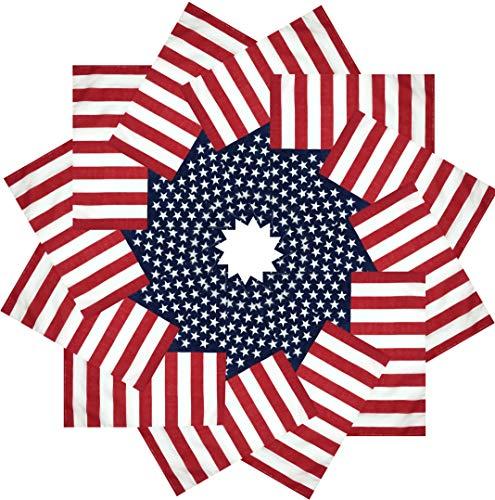 (CD Bandana |100% Cotton, 12-Pack Bandanas for Women, Men, Dozen Novelty Headband (U.S. Flag (Striped)) )