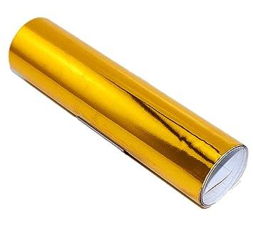 """12 """"x60"""" cromo espejo dorado Vinilo Adhesivo dorado hoja de película, autoadhesivo"""