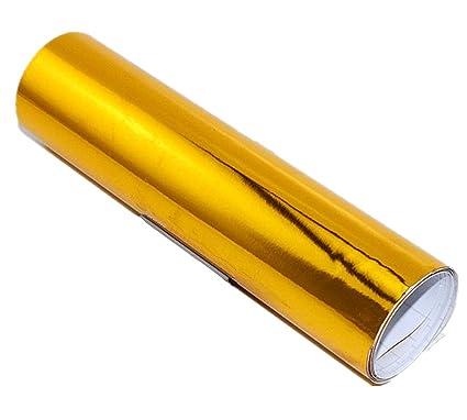 24''x60''Chrome Mirror Golden Vinyl Wrap Sticker Decal Gold Film Sheet  ,Self-adhesive