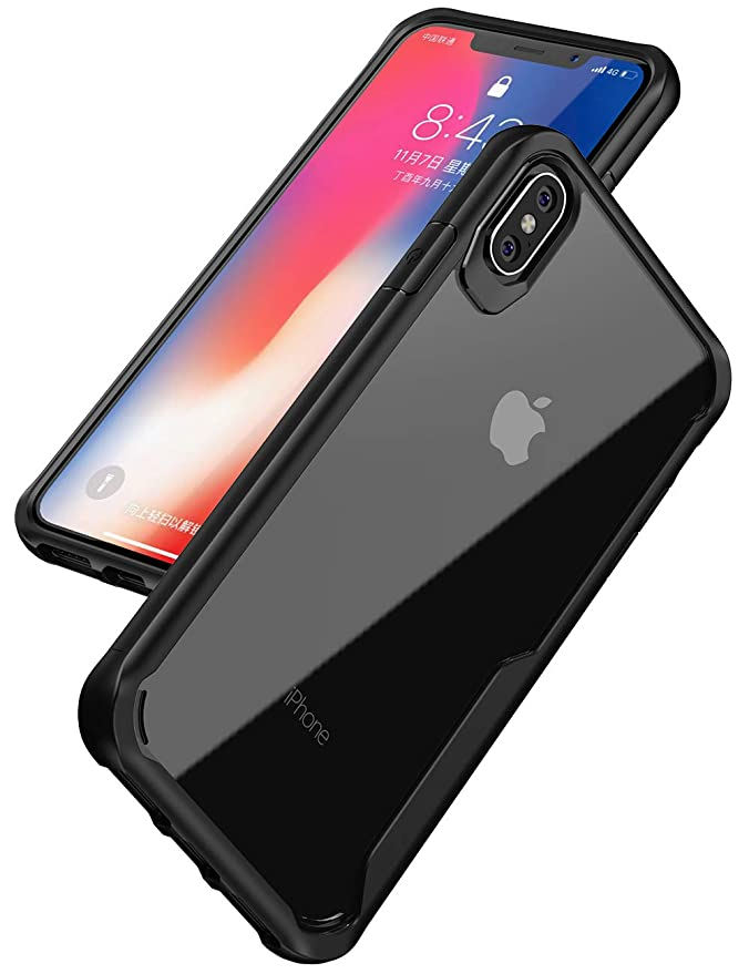 KumWum Funda iPhone XS Prueba de Golpes y Tecnología Air Cushion A Prueba de Polvo Anti-Rasguño Case para iPhone X (iPhone XS/X, Negro): Amazon.es: ...