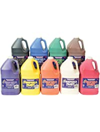 Constructive Playthings Gallon Tempera Kids Paint Set with 9 Non-Toxic Washable Colors