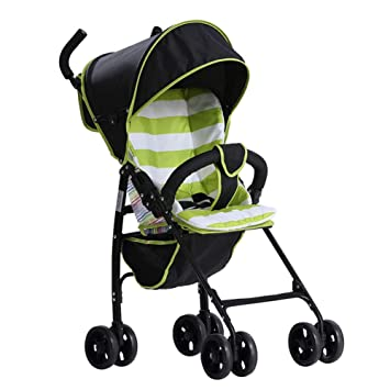 QZX Carrito de bebé Sistema de Viaje de Silla de Paseo Fácil de Plegar Portátil Ultraligero