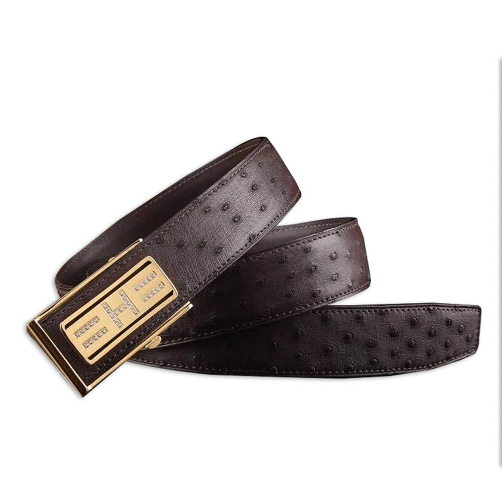 HYLIUP Mens Belt High-End Classic Design Mens Lightweight Business Automatic Buckle Belt///Casual Steel Buckle Leather Belt Male