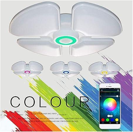 Rkrgky Plafón con Altavoz Bluetooth Lámparas De Techo Música ...