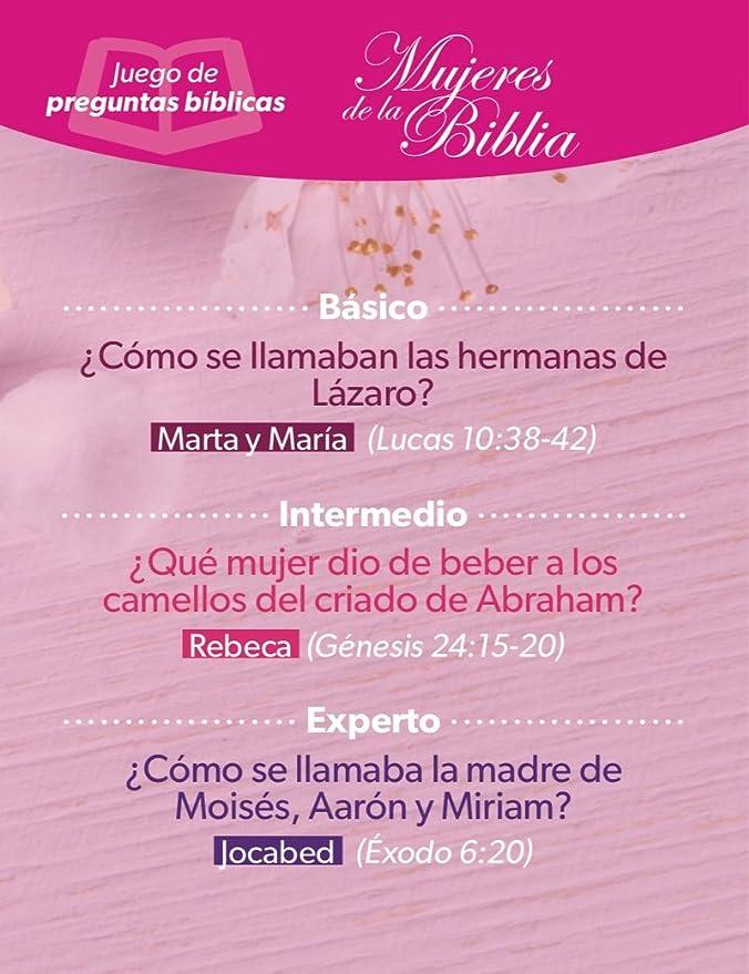 Juegos de preguntas y respuestas bíblicas Mujeres de la Biblia: Amazon.es: Juguetes y juegos