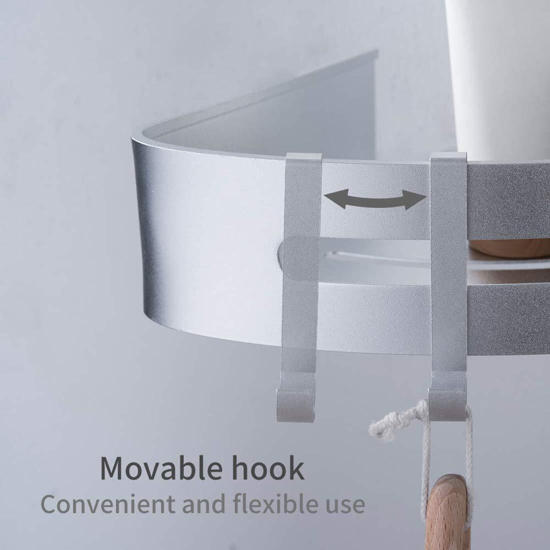FLM Estantes para Ducha Pegamento Patentado Autoadhesivo 3M Estanter/ía de Esquina para Ba/ño Ducha,Triangle