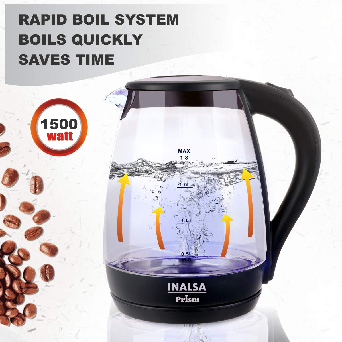 Inalsa electric kettle for boiling water