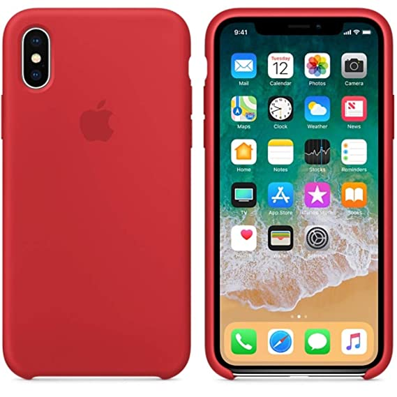 sports shoes 2e2f9 1c65d BigMike Compatible for iPhone X Case, BigMike Liquid Silicone Gel Rubber  Shockproof Case Soft Microfiber Cloth Lining Cushion Compatible with iPhone  X ...