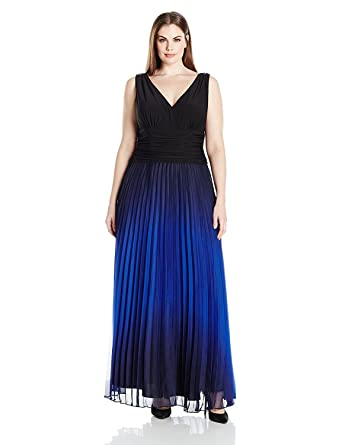 Ignite Women s Ombre Pleated Skirt Party Dress 87ad2421a