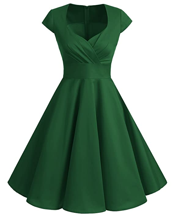 1950s Dresses, 50s Dresses | 1950s Style Dresses Bbonlinedress Women Short 1950s Retro Vintage Cocktail Party Swing Dresses $27.69 AT vintagedancer.com
