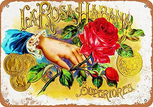 Unoopler Vintage Look Metal Sign 8 x 12 - La Rosa Habana Cigars
