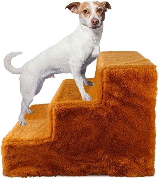 Escaleras para Mascotas, escalones/rampa/Escalera para Mascotas de 3 Niveles para Gatos/Perros pequeños y medianos de hasta 88 LB, escaleras portátiles para Perros con Cubierta de Felpa cómoda: Amazon.es: Productos para mascotas