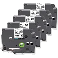 5-Pack Oozmas Compatible Label Tape Replacement for Brother for