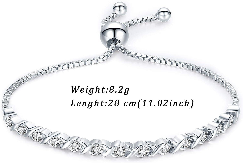 """Silber Armband Schmuck Armreif Damen Frauen  8/"""" inch 4mm-DE"""