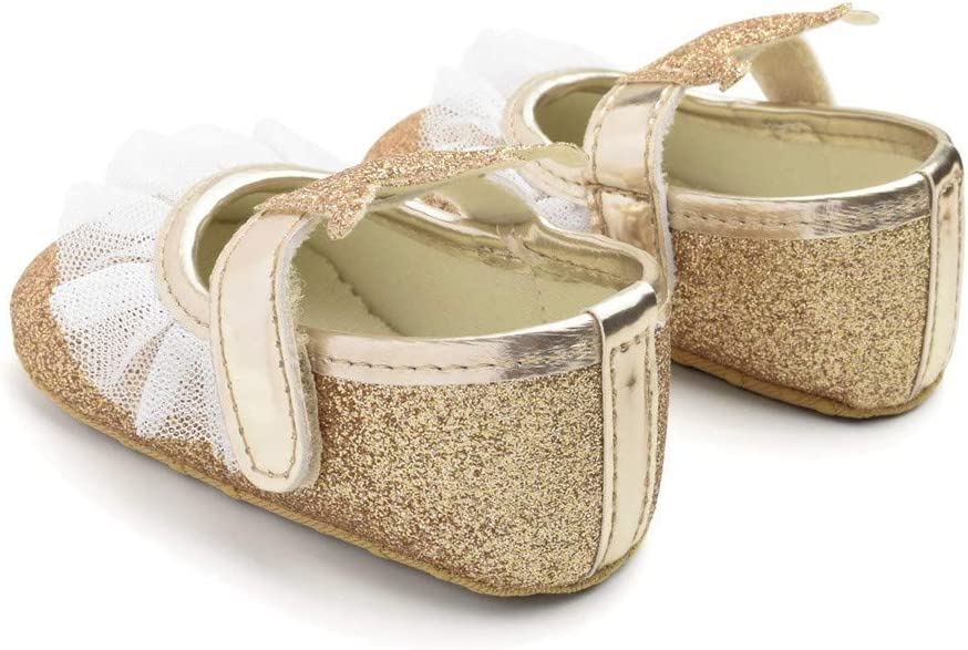 Sinwasd Sandals Cute Baby Girls Newborn Infant Baby Bling Casual First Walker Toddler Shoes Princess Shoes 0-15 Months