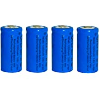Skytower 4 x CR123A CR123 1200mah 3.7v 16340 Rechargeable Lithium Battery Set for Ultrafire Cree Torch Flashlight Photo Digital Camera Camcorder Toys Laser Pointer Presenter