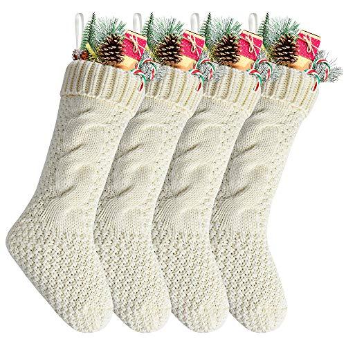 White And Gold Christmas Stockings (Kunyida Pack 4,18