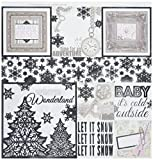 "Bo Bunny BBU20901838 Winter Wishes 12"" X 12"" Foil Vellum Scrapbooking Paper"