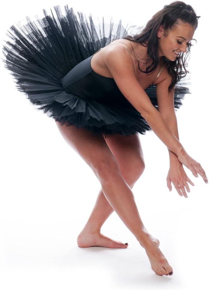 Katz Dancewear Girls Ladies Black Premium Dance Ballet Practise Pancake Plateau 7 Net Layer Tutu