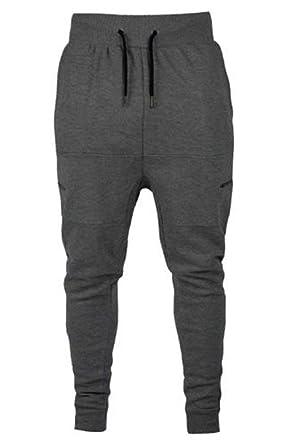 88a7327c35 Mens Pique Drop Crotch Skinny Slim Fit Stretch Joggers Bottoms Pants  Trousers
