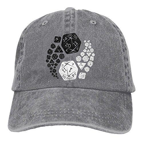 Hat Dungeons and Dragons Yin Yang Denim Skull Cap Cowboy Cowgirl Sport Hats for Men Women ()