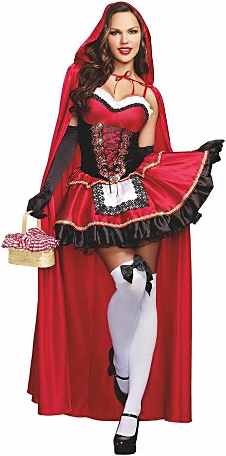 DreamGirl Disfraz Caperucita Roja Deluxe Gr. S, L, XL, XXL, XXXL ...