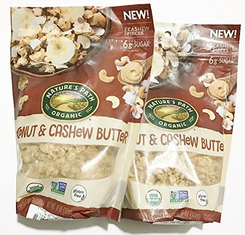 Nature's Path Gluten Free Crunchy Granola - Coconut & Cashew Butter 11 oz. (Pack of 2)