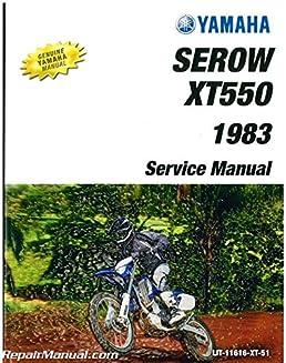 lit 11616 xt 51 1982 1983 yamaha xt550 service manual manufacturer rh amazon com free yamaha xt 550 workshop manual yamaha xt 550 service manual download