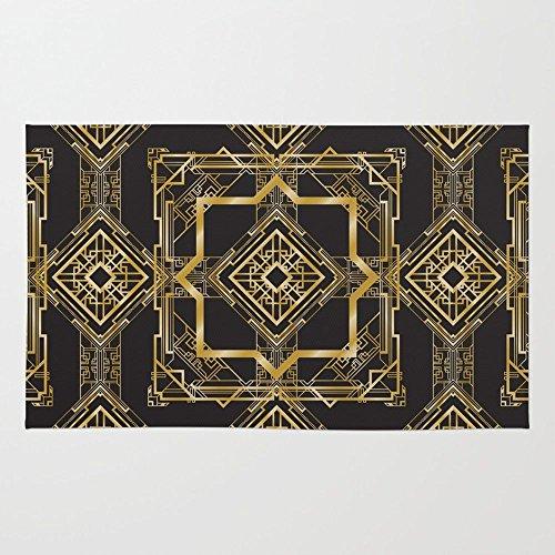Society6 Art Deco Geometric Pattern Rug 4' x 6' - Art Deco Carpets