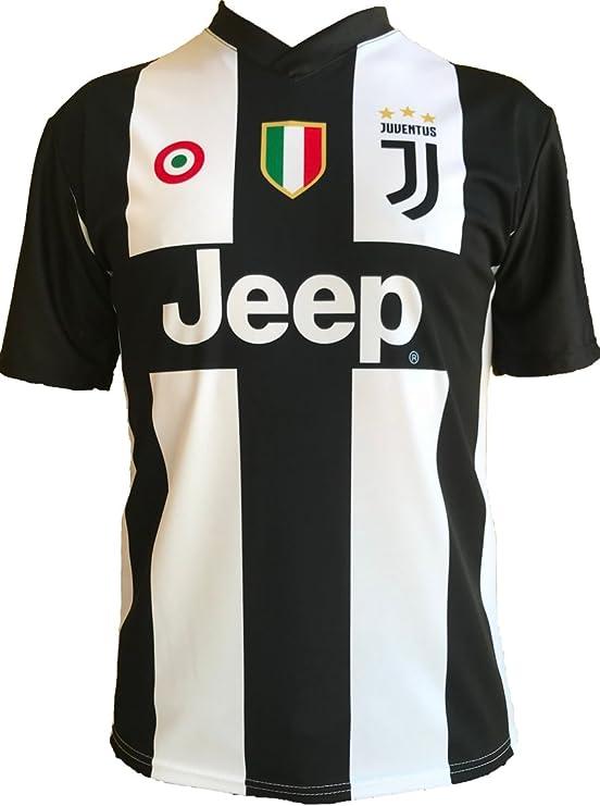 JUVE Camiseta de Fútbol Cristiano Ronaldo 7 CR7 Juventus F.C. Home Temporada 2018-2019 Replica Oficial con Licencia - Todos Los Tamaños Niño (2 4 6 8 10 12 AÑOS) y Adulto (S M L