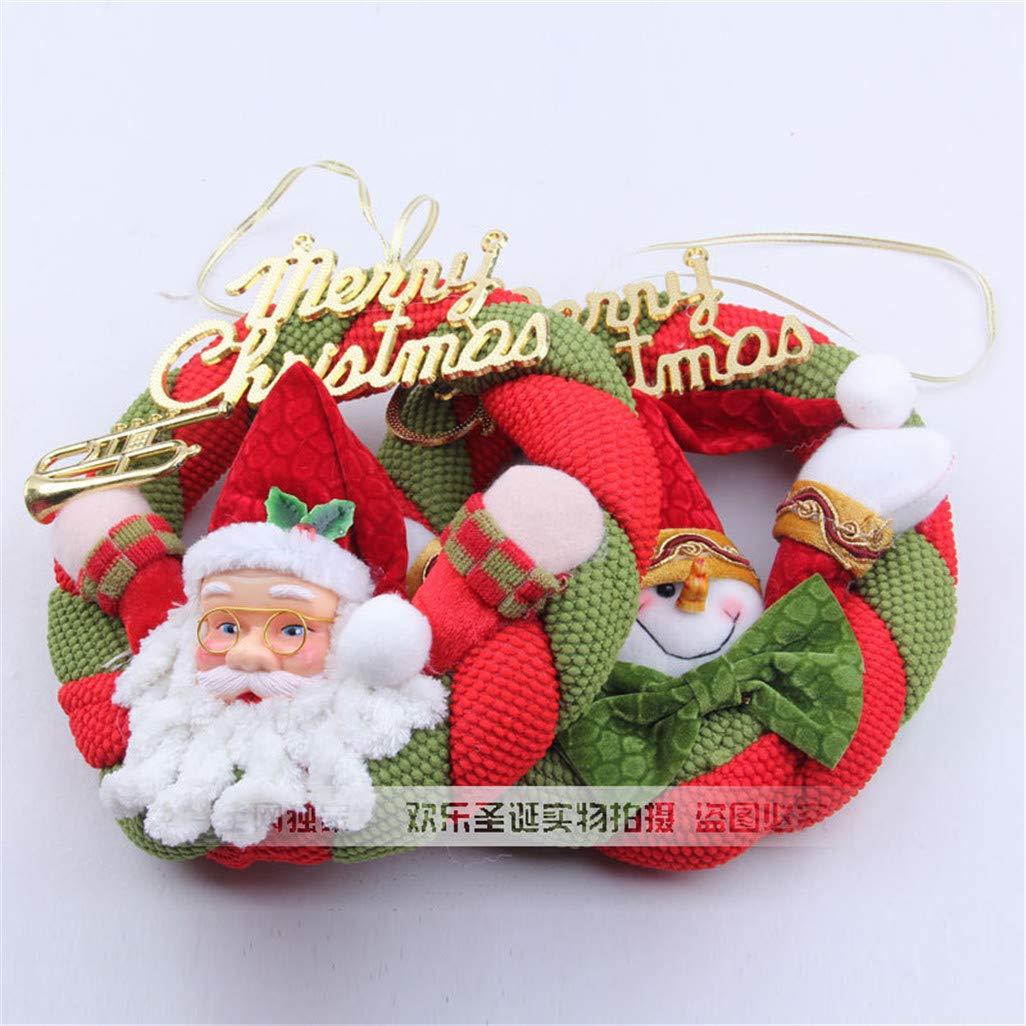 Amazon.com: LYFWL Corona de Navidad, decoración de árbol de ...