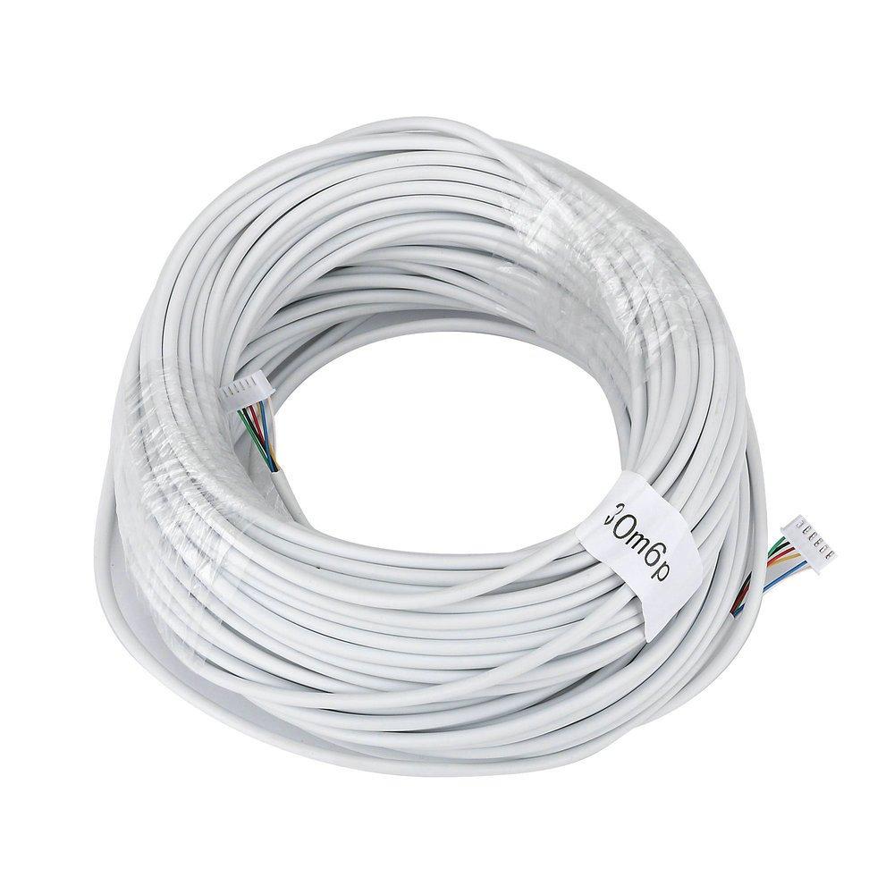 98/Pieds Ennio 30/m 2,54/* 6P 6/fils c/âble pour interphone vid/éo couleur vid/éo Porte T/él/éphone Sonnette interphone avec fil c/âble/ /Blanc
